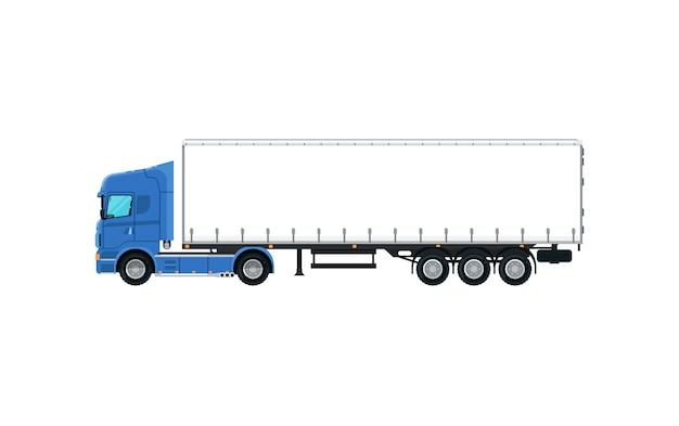 Ícone isolado de caminhão de carga comercial