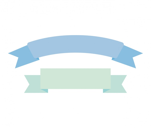 Ícone isolado de decoração de moldura de fita