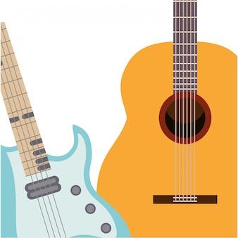 Ícone isolado de instrumentos musicais