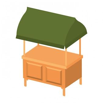 Ícone isolado de quiosque de loja