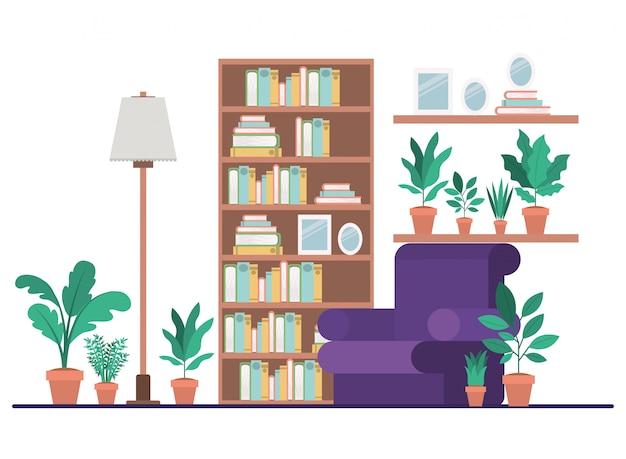 Ícone isolado de sala de estar