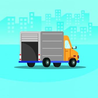 Ícone isolado de serviço de entrega de caminhão
