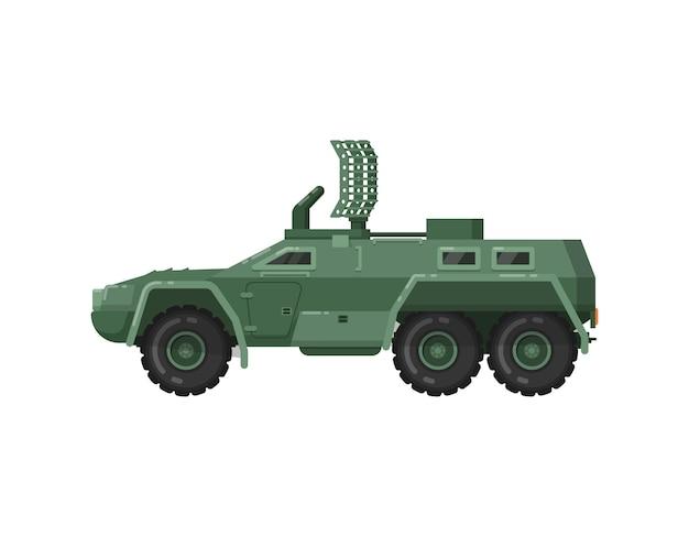 Ícone isolado de veículo blindado moderno