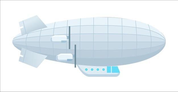Ícone isolado dirigível moderno