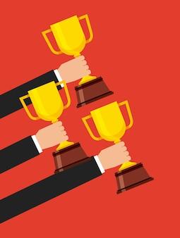 Ícone isolado do troféu vencedor da copa