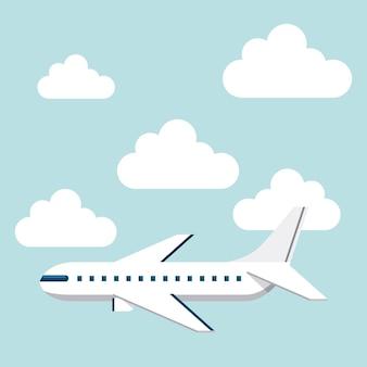 ícone isolado voador de avião