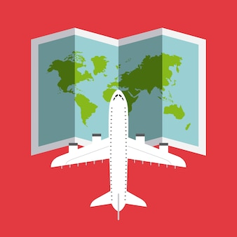 Ícone isolado voar de avião