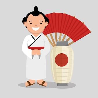 Ícone japonês do lutador sumo