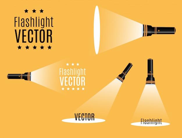 Ícone lanterna. ilustração plana.