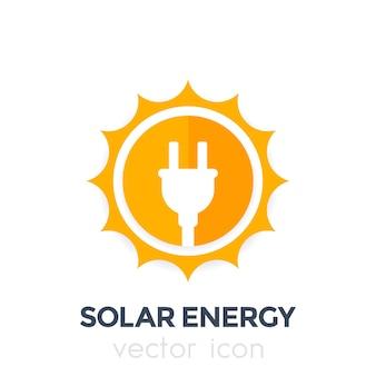 Ícone, logotipo de vetor de energia solar