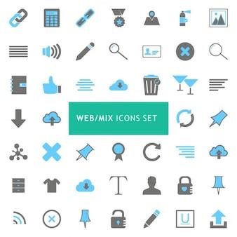 Ícone mix web set