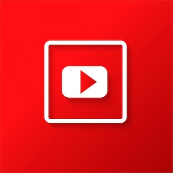 Ícone moderno do youtube