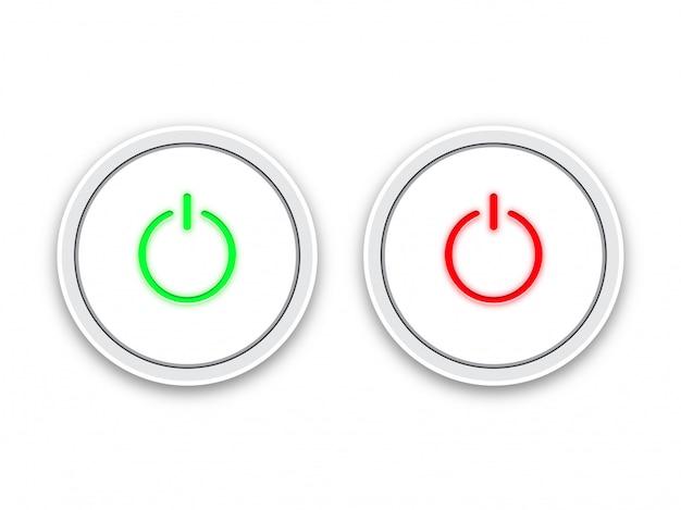 Ícone on e off botão interruptor.