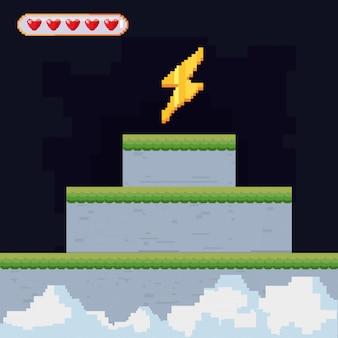 Ícone pixelated e videogame