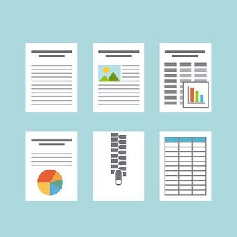 Ícone plana de formato de documento