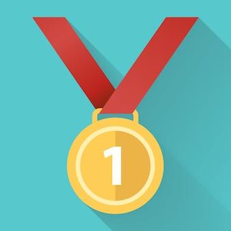 Ícone plana medalha