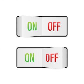 Ícone plano botão liga / desliga