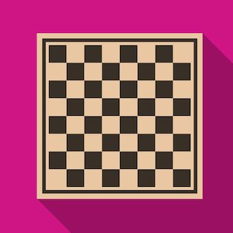 Ícone plano de tabuleiro de xadrez ilustração isolado símbolo de sinal de vetor