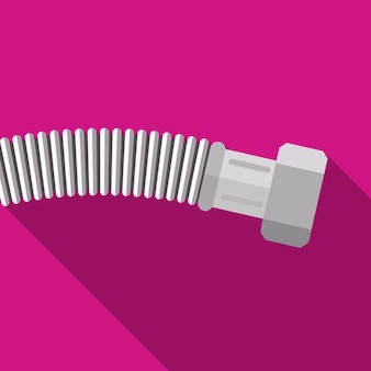 Ícone plano de tubo corrugado ilustração isolado símbolo de sinal de vetor