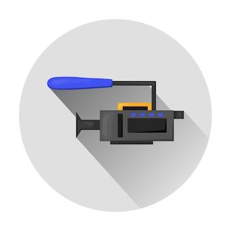 Ícone plano - ilustração da câmera de vídeo