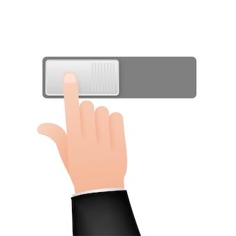 Ícone plano ligado e desligado alternar formato de vetor do botão do interruptor. ilustração de estoque vetorial