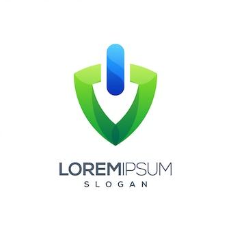 Ícone poder gradiente logotipo colorido