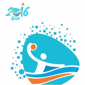 Ícone pólo aquático jogos olímpicos rio