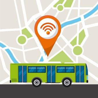 Ícone público de serviço de ônibus
