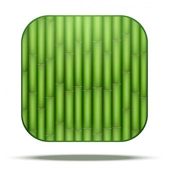 Ícone quadrado de bambu