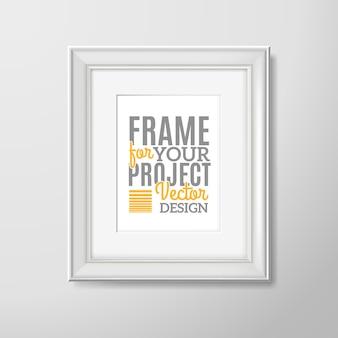 Ícone quadrado de moldura de foto de parede