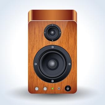 Ícone realista de alto-falante desktop