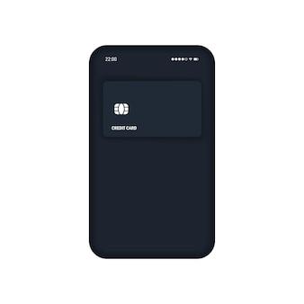 Ícone realista de pagamento sem contato. nfc. vetor eps 10. isolado no fundo branco.