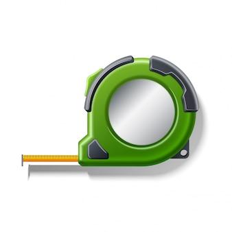 Ícone realista de roleta de fita métrica