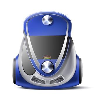 Ícone realista do corpo do aspirador de pó em 3d