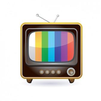 Ícone retro da televisão