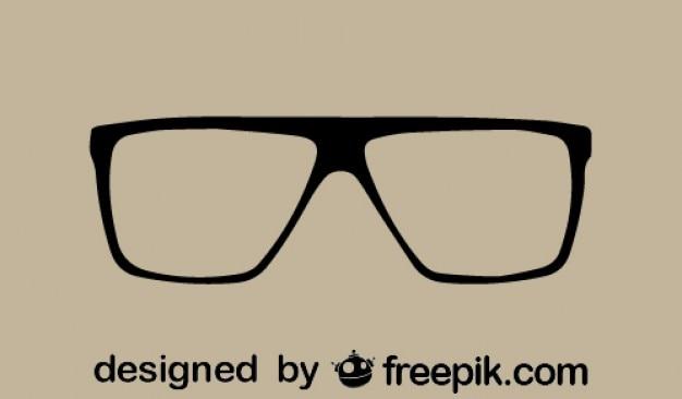 Ícone retro legal óculos