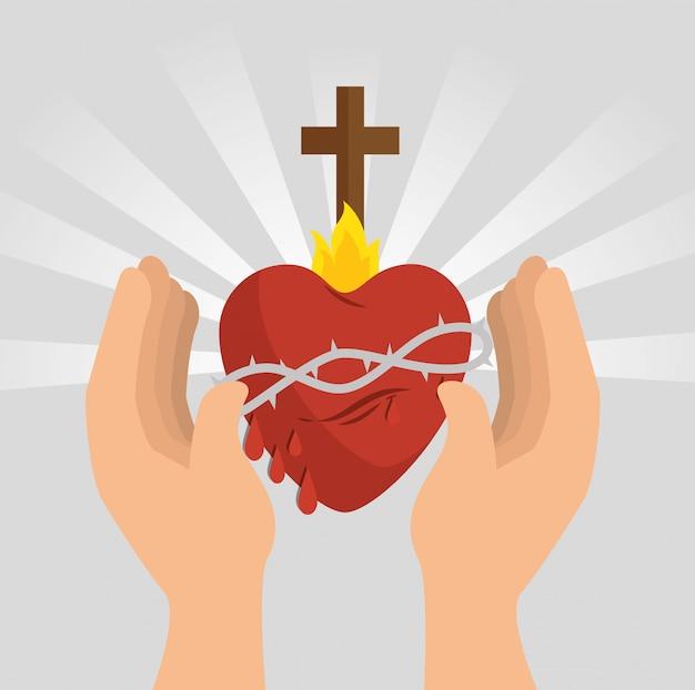 Ícone sagrado do coração de jesus