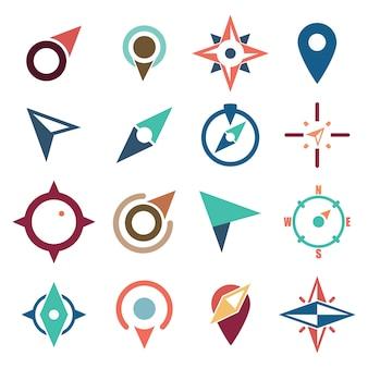 Ícone símbolo abstrato da navegação da bússola