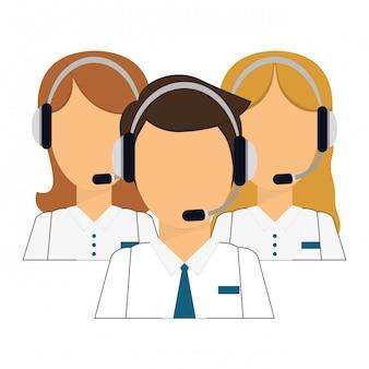 Ícone técnico de assistentes de suporte
