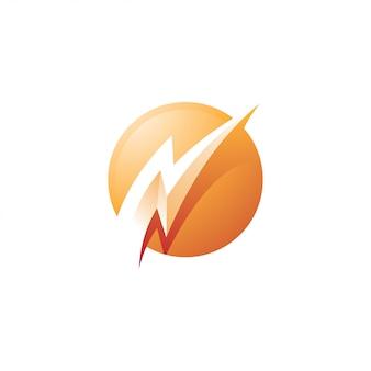Ícone trovão relâmpago logotipo energia