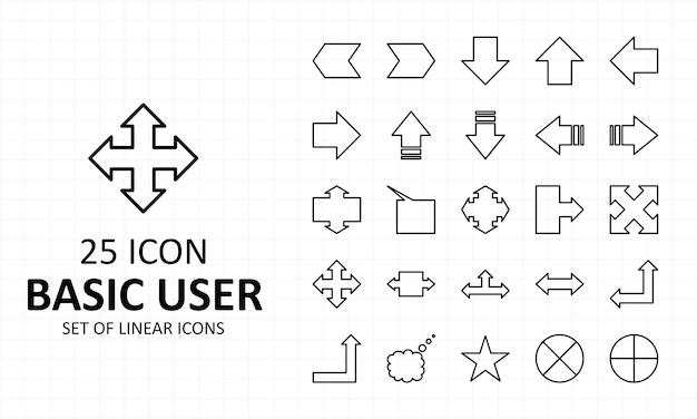 Ícone usuário sinais básicos folha perfeito ícones pixel