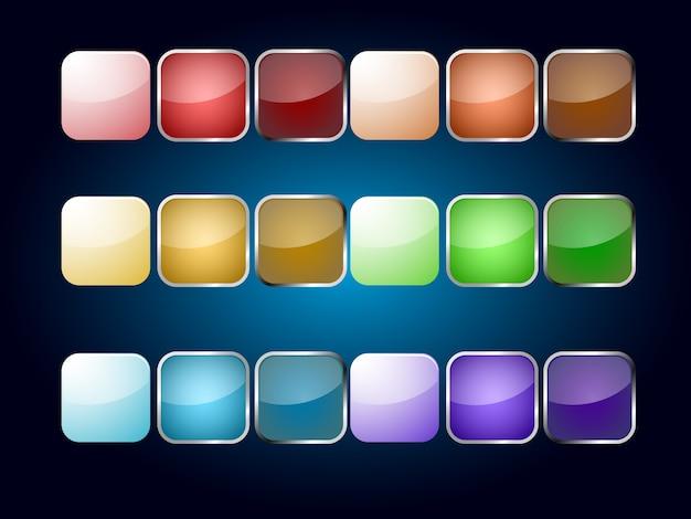 Ícone vazio de várias cores populares para aplicação web