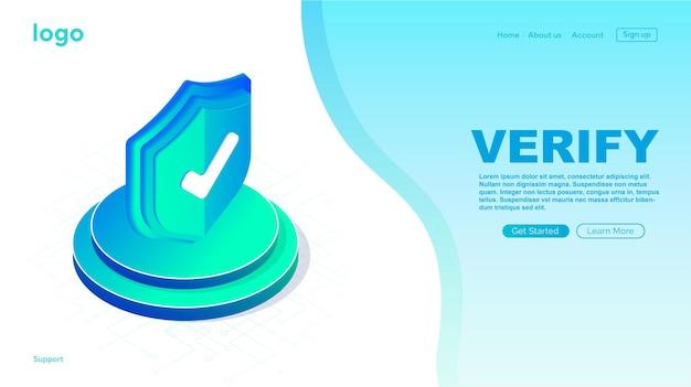 Ícone verificado no site da página de carregamento da caixa ícone aprovado ícone verificado e protegido aprovado