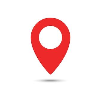 Ícone vermelho de geolocalização.
