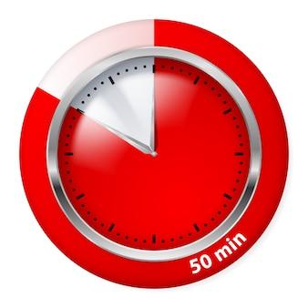 Ícone vermelho do temporizador