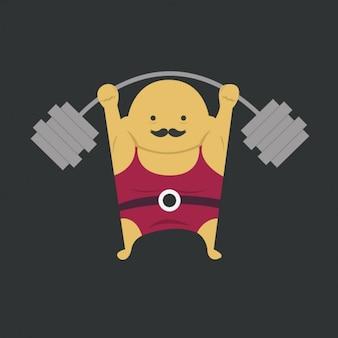 Ícone weightlifter