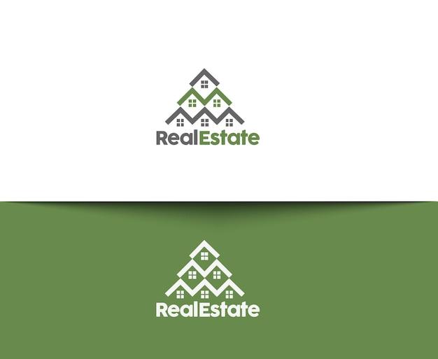 Ícones abstratos de imóveis e logotipo de vetor
