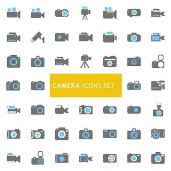 Ícones ajustados sobre câmeras