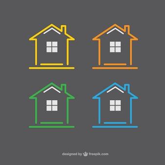 Ícones casas