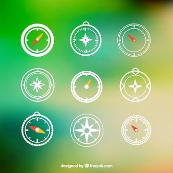 Ícones compass